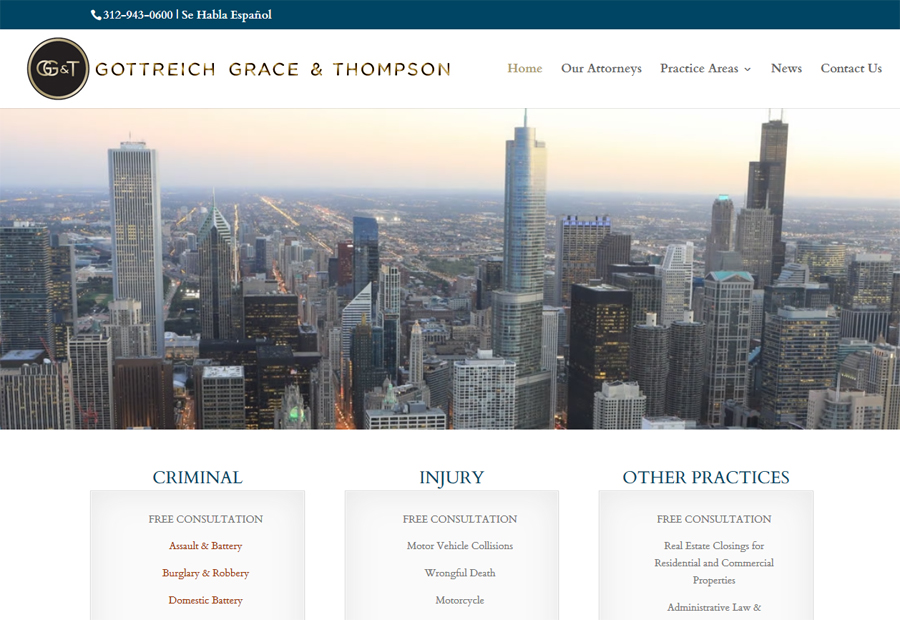 Gottreich, Grace & Thompson Website Launched
