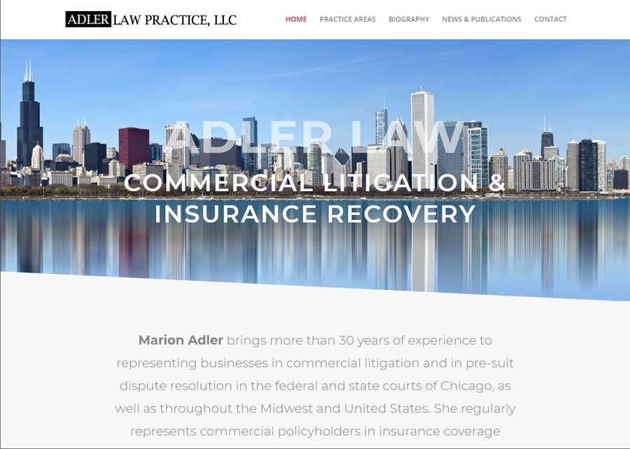 Adler Law Practice Website Launched